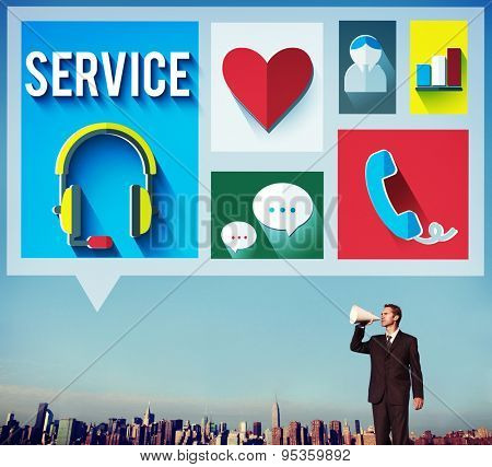 Customer Service Consultant Hospitality Care Concept