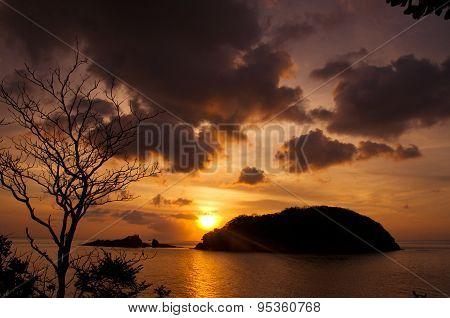 Beautiful sunset in Con dao island