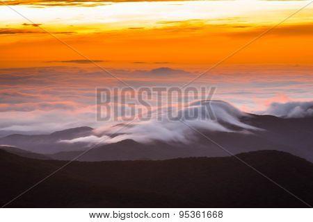 Amazing Blue Ridge Mountains Sunrise