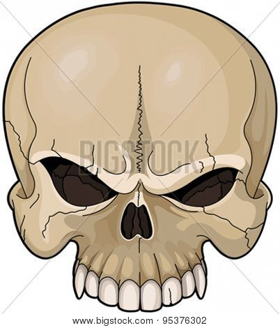 Illustration of a scary skull