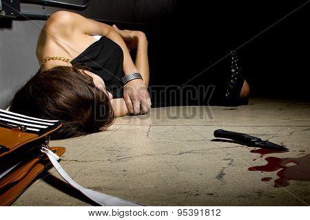 Dead Female Murder Victim