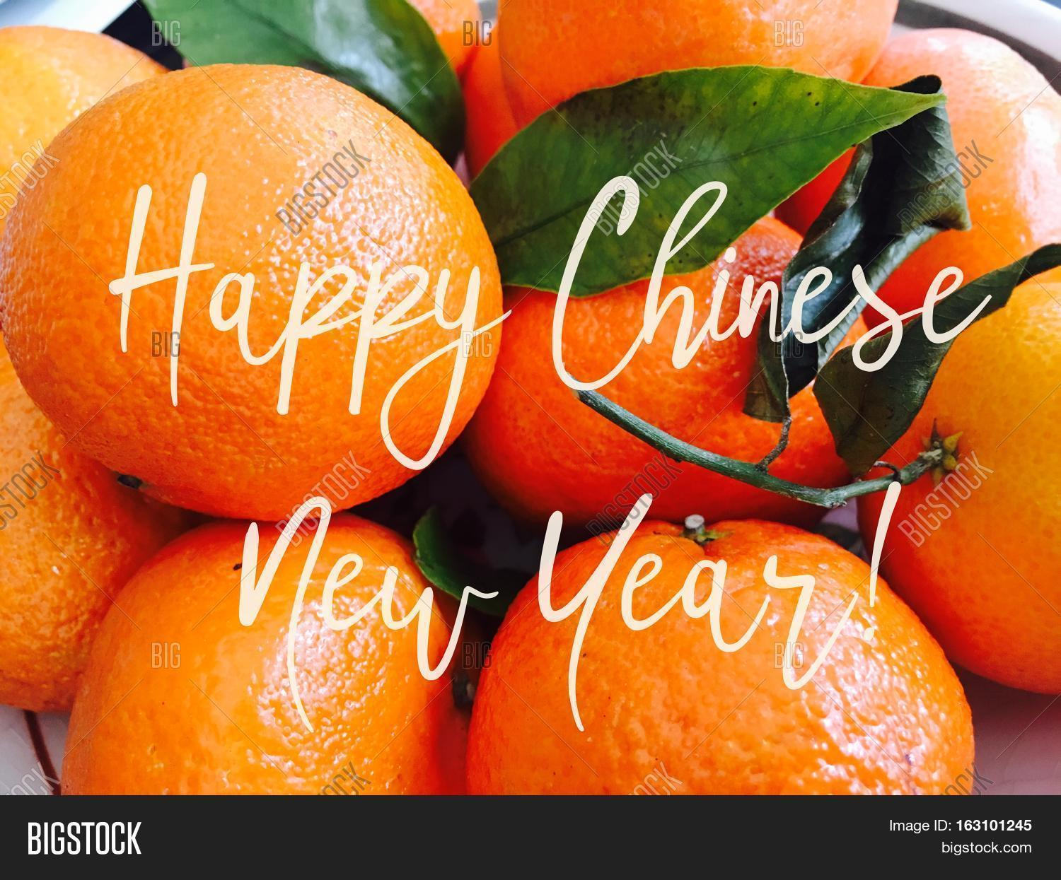 Happy chinese new year good fortune image photo bigstock happy chinese new year good fortune fruit for fullness and wealth social media cyber card image kristyandbryce Gallery