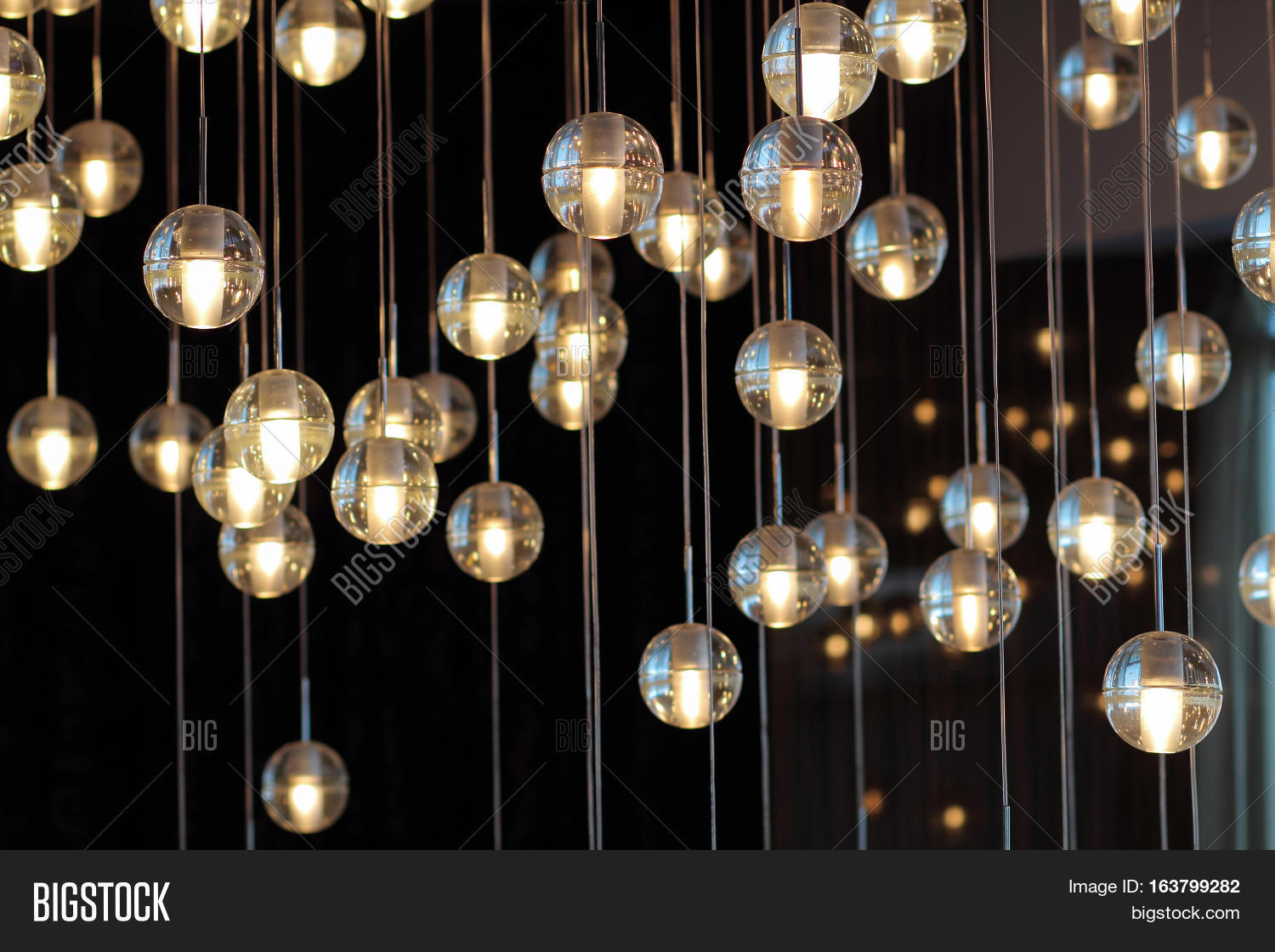 Lighting balls on image photo free trial bigstock lighting balls on the chandelier in the lamplight light bulbs hanging from the ceiling lamps on aloadofball Image collections