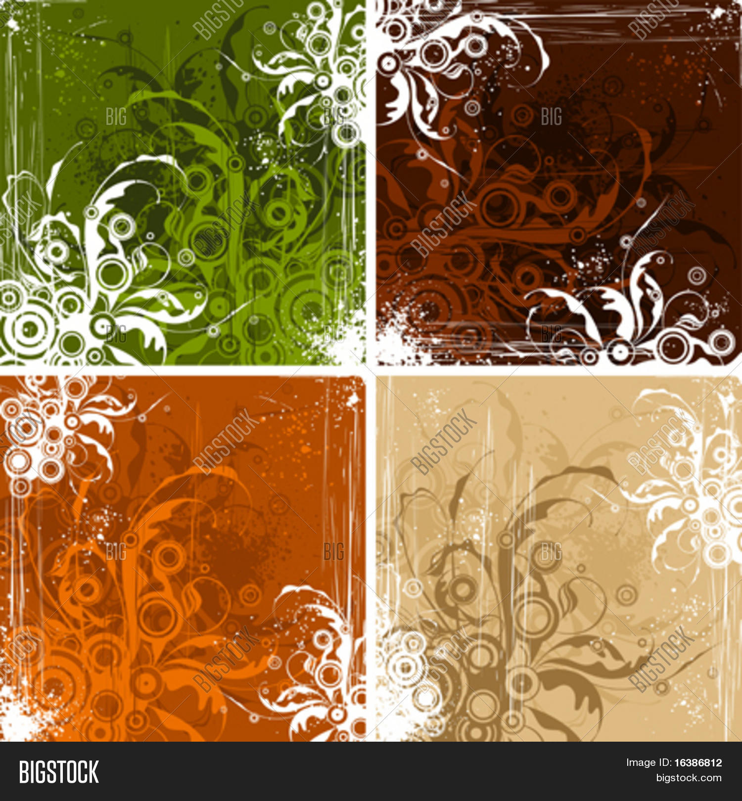 Vintage Floral Vector Photo Free Trial Bigstock
