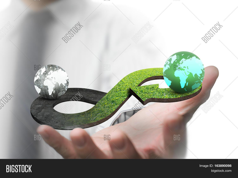 Green Circular Economy Image Photo Free Trial Bigstock