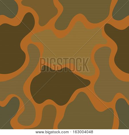 abstract vector chaotic spotted seamless pattern - orange and gray