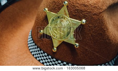 Toy Hat Sheriff Outfit For A Masked Ball, Children's Hat For Sheriff