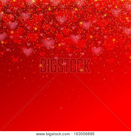 valentines day background with red heart for your holiday design greeting card, poster, banner, vector illustration eps 10