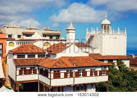 the historical center of La Orotava town Tenerife Island Spain