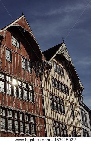 tenement house in old town of Troyes France