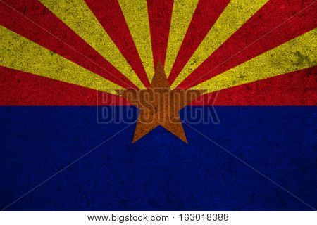 Graphic American State Grunge Flag Of Arizona