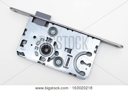 Doors mortise lock isolated on white background