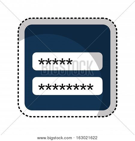 login and password icon vector illustration design