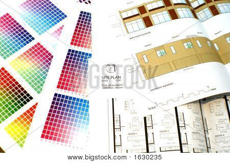 Colour Chart And Plans With Elevation