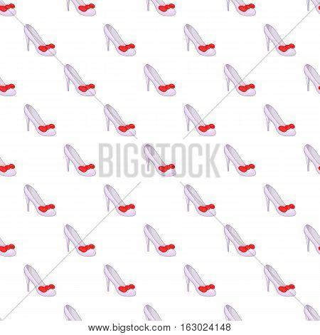 White shoe pattern. Cartoon illustration of white shoe vector pattern for web