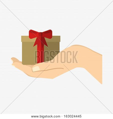 Giftbox Present On Hand