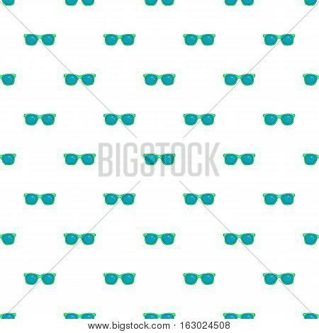 Blue sunglasses pattern. Cartoon illustration of blue sunglasses vector pattern for web