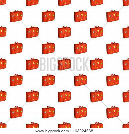 Suitcase pattern. Cartoon illustration of suitcase vector pattern for web