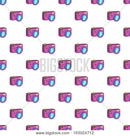 Photo camera pattern. Cartoon illustration of photo camera vector pattern for web
