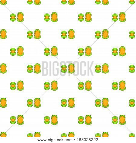 Knee protector and elbow pad pattern. Cartoon illustration of knee protector and elbow pad vector pattern for web