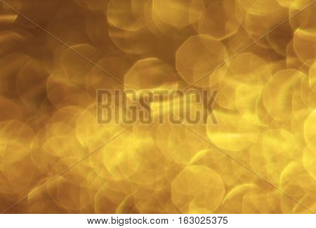abstract gold bokeh circles for the background light and blurred boke