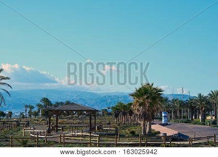 View to the Retamar park. Province of Almeria. Spain