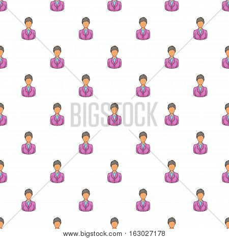 Female hotel receptionist worker pattern. Cartoon illustration of female hotel receptionist worker vector pattern for web