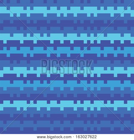 Abstract Texture Railways Striped Pixel Seamless Background Blue