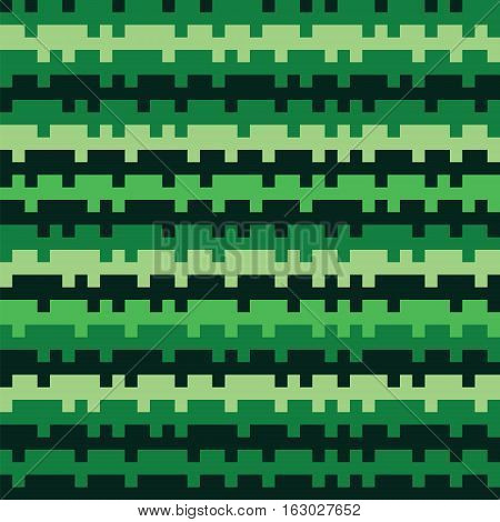 Abstract Texture Railways Striped Pixel Seamless Background Green