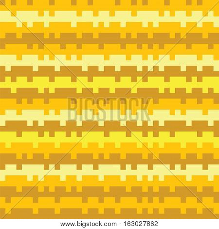 Abstract Texture Railways Striped Pixel Seamless Background Yellow