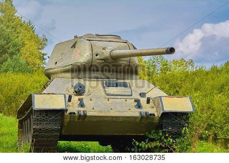 Tank On The Battle Field