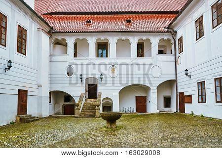 Сourtyard In Cesky Krumlov