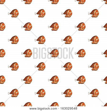 Roast pork knuckle pattern. Cartoon illustration of roast pork knuckle vector pattern for web
