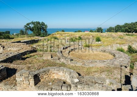 The excavations of the ancient city of Tyras. Bilhorod-Dnistrovskyi fortress. Bilhorod- Dnistrovskyi Odessa oblast Ukraine.