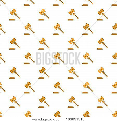 Judges gavel pattern. Cartoon illustration of judges gavel vector pattern for web