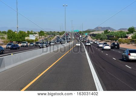 Phoenix USA - july 7 2016 : the interstate 17 near Phoenix