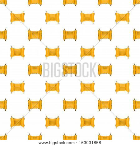Paper scroll pattern. Cartoon illustration of paper scroll vector pattern for web