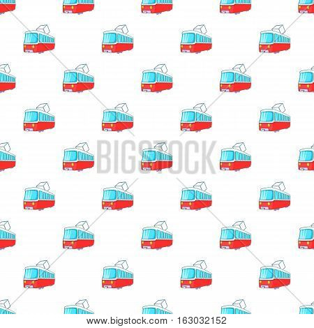 Electric train pattern. Cartoon illustration of electric train vector pattern for web