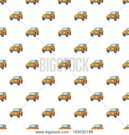 Jeep pattern. Cartoon illustration of jeep vector pattern for web