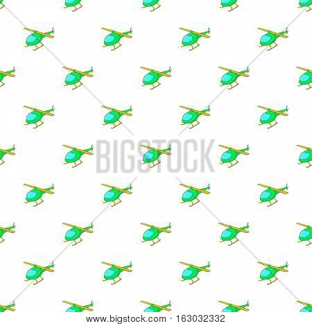 Helicopter pattern. Cartoon illustration of helicopter vector pattern for web