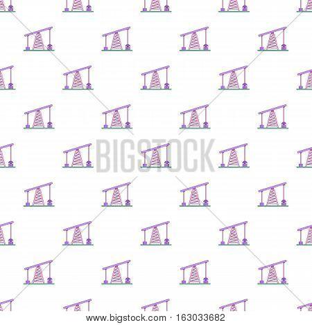 Oil rig pattern. Cartoon illustration of oil rig vector pattern for web