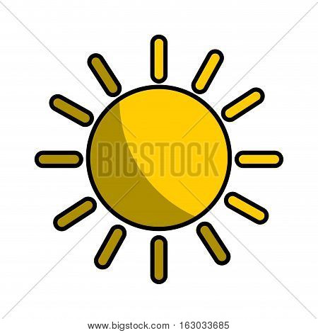 sun climate sign icon vector illustration design