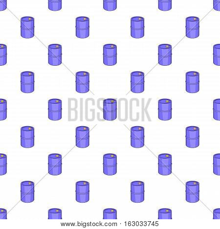 Barrel for gasoline pattern. Cartoon illustration of barrel for gasoline vector pattern for web