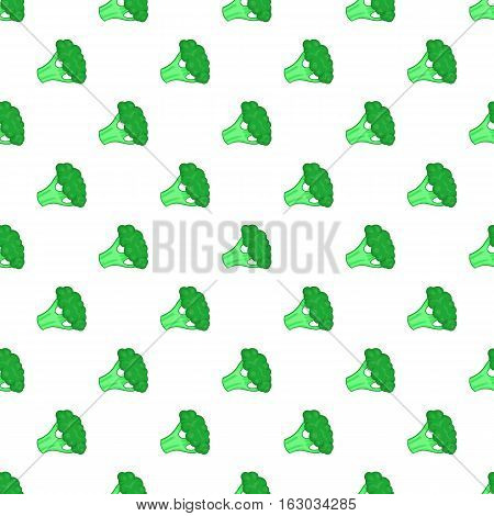 Broccoli pattern. Cartoon illustration of broccoli vector pattern for web