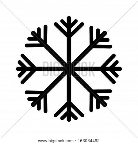 snowflake climate sign icon vector illustration design