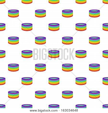 Rings in colours of LGBT pattern. Cartoon illustration of rings in colours of LGBT vector pattern for web