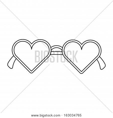 modern glasses isolated icon vector illustration design