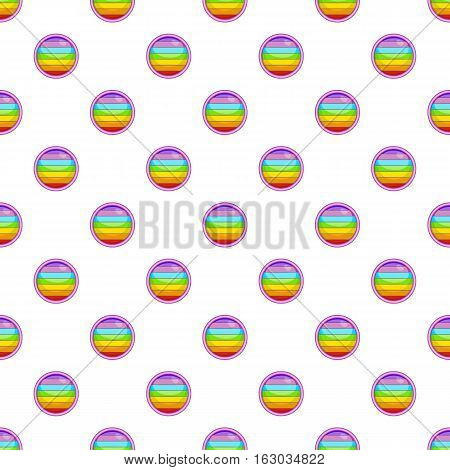 Circle in colours of LGBT pattern. Cartoon illustration of circle in colours of LGBT vector pattern for web