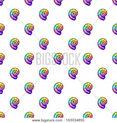 Curl in colours of LGBT pattern. Cartoon illustration of curl in colours of LGBT vector pattern for web