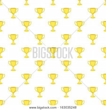 Cup championship pattern. Cartoon illustration of cup championship vector pattern for web
